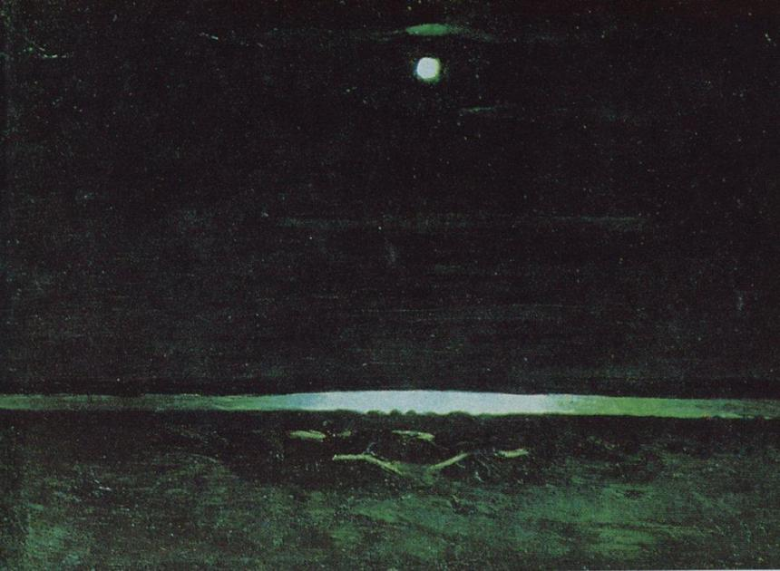 "Arkhip Kuindzhi, ""Moonlight Night on the Dnieper,"" 1908"