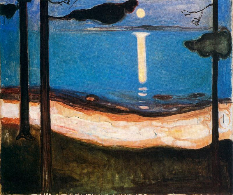 edvard munch moon light 1895